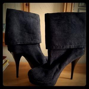 Candies Black stiletto ankle boots size 9